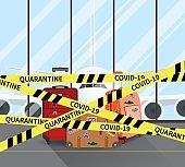 Coronavirus COVID-19 quarantine in airport