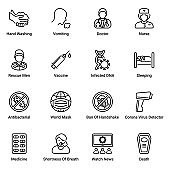 Corona virus outline Icons