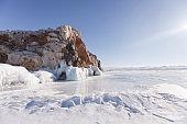 Lake Baikal. Borga-Dagan island rock