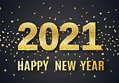 2021 Happy New Year vector background