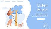 Vector banner of Listen Music concept