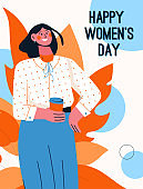 Vector poster of Happy Womens Day concept