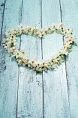 Flowers heart shape