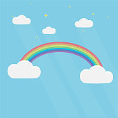 Rainbow. Rainbow in the sky