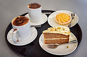 Morning Tea With Cake And Coffee