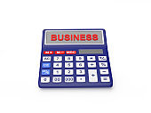 Calculator with the word business
