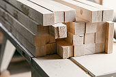 Wood timber construction material for background