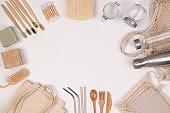 Zero waste eco friendly reusable objects
