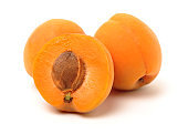 Fresh apricot fruits
