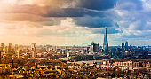 Panoramic Modern London Skyline and Cityscape