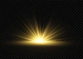 Sun ray light.