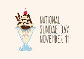 National Sundae Day vector