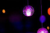 Decorative lanterns, fantasy lights,Colorful neon night