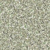 Money pattern hundred dollar bill. Falling money isolated on white background. American cash.