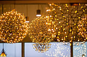 Modern decorative chandeliers, dreamy lights, romantic colors,Christmas lights