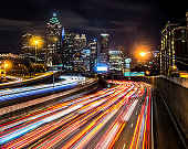 City at night, Atlanta, Georgia, USA
