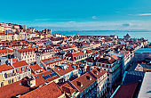Lisbon. Top view of the city center.