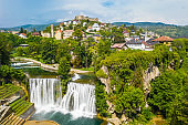 Town and waterfall, Jajce, Bosnia and Herzegovina