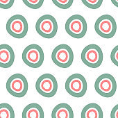 Trendy seamless pattern with graphic abstract geometric shapes.  Avant-garde puzzle style.