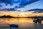 Coron town seacost at sunset, Busuanga