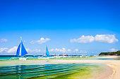 Boat at Boracay island beach, Philiphines