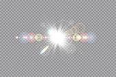 Lens flare light effect