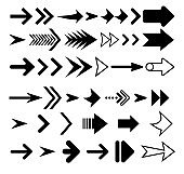 Arrows vector collection black color. Arrow icon. Collection of concept arrows for web design, mobile apps, interface and more