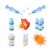 Immune system icon in isometric view, vector