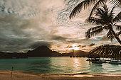 beautiful luxury resort on tropical island