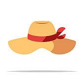 Sun hat vector isolated illustration