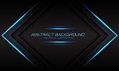 Abstract blue light flame arrow banner on dark grey design modern luxury futuristic background vector illustration.