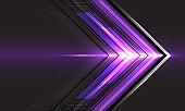 Abstract violet arrow light direction speed on black technology futuristic design modern background vector illustration.