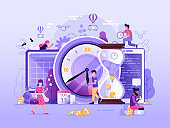 Time is Money Business Concept in Flat