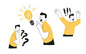 The concept of a startup and investment search.  Innovative idea. Vector illustration