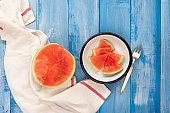 Slices of fresh juicy watermelon
