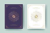 Wedding invitation save the date card golden flourishes ornaments vignette swirls vector template