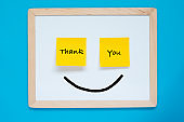 Thank You Message on Adhesive Notes