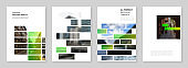 A4 brochure layout of covers templates for flyer leaflet, A4 brochure design, report, presentation, magazine cover, book design. Modern corporate identity style for any purposes. Business template.