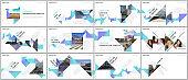 Minimal presentations design, portfolio vector templates with colorful triangle origami paper elements. Multipurpose template for presentation slide, flyer leaflet, brochure cover, report, marketing.