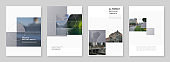A4 brochure layout of modern covers design templates for business flyer leaflet, A4 format brochure design, report, presentation, magazine cover, book design in minimal style.