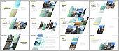 Minimal presentations design, portfolio vector templates with colorful gradient geometric background. Multipurpose template for presentation slide, flyer leaflet, brochure cover, report, advertising.