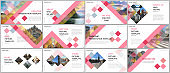 Minimal presentations design, portfolio vector templates with cubes, geometric abstract background. Multipurpose template for presentation slide, flyer leaflet, brochure cover, report, advertising.