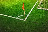 Red corner flag