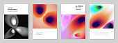 A4 brochure layout of covers design templates for flyer leaflet, report, presentation, magazine, book. Medical design with bright colored gradient pattern in form of cells. Scientific research concept
