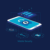 Mobile security modern concept