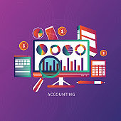 Concept of accounting, analysis, audit, calculation. Auditing tax process