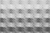 Pattern in origami style with small folds in gray color