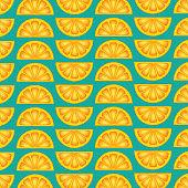 Lemon slices pattern background