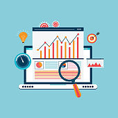 Statistics and data analysis concept