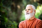 Portrait of an Active senior man